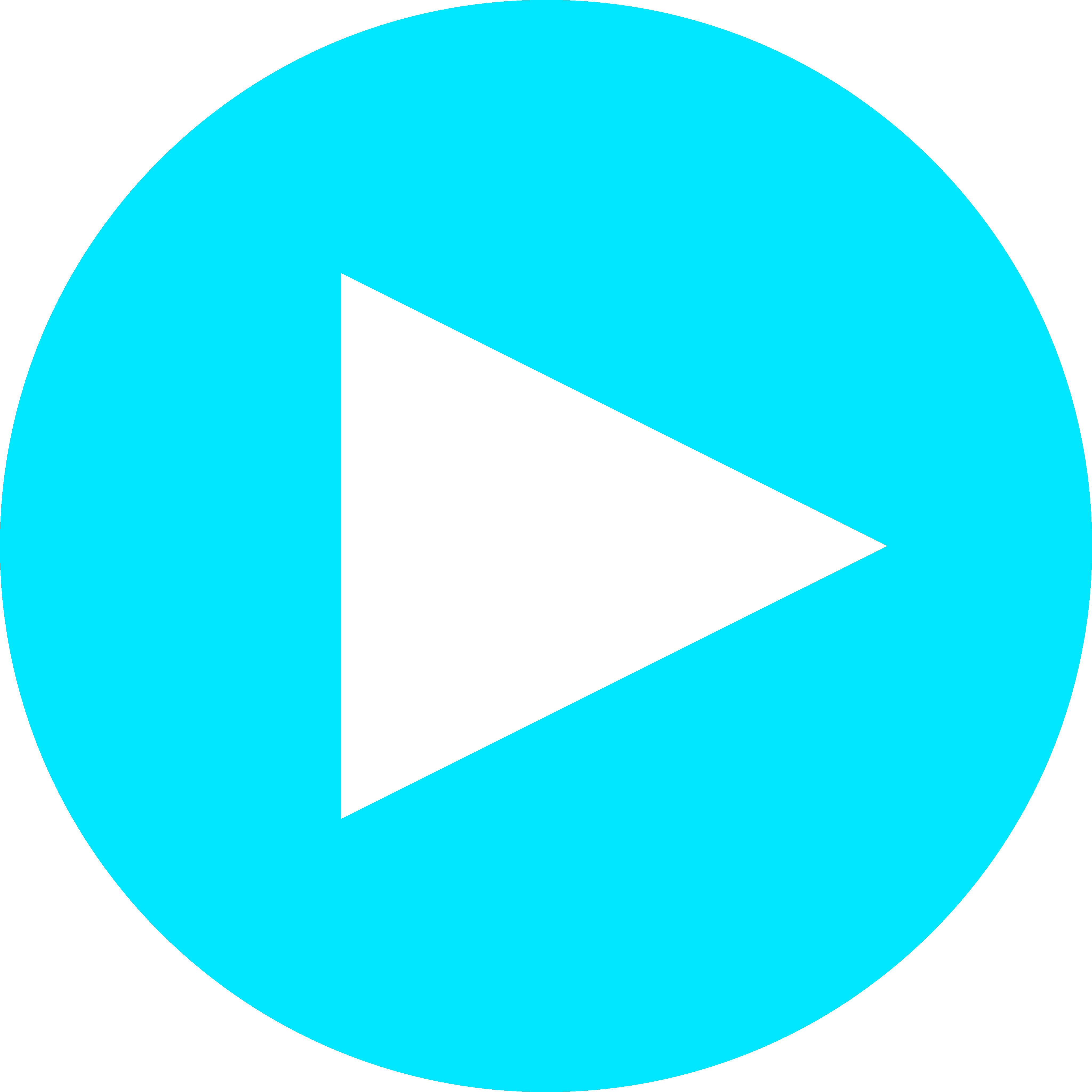 Blue play icon